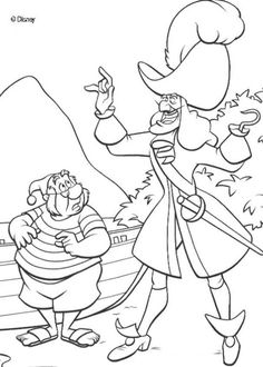 peter pan coloring pages captain hook and smee