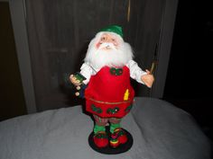 CHRISTMAS   SANTA  DOLL  Annalee by JUNKMANSGAL on Etsy