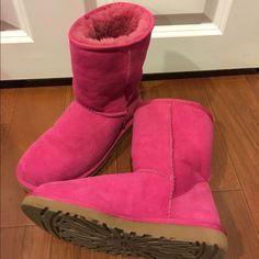 Rare Hot Pink Classic Short Uggs