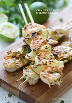 Grilled Cilantro Lime Shrimp Kebabs Recipe