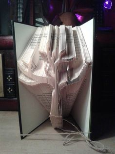 Book Folding Pattern for a bare tree FREE by BookFoldingForever