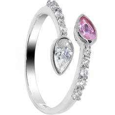 Funky 925 Sterling Silver Thin Plain Toe Ring With Choice Of Swarvoski Crystal Vivid And Great In Style Toe Rings
