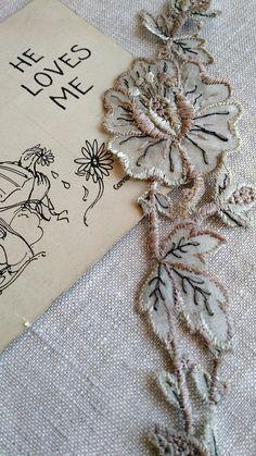 Magnificent Antique Silk Flower Applique Garland or Set of  #makersonhudson