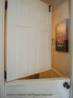 Best Home Renovations Basement Plans, Basement Renovations, Basement Ideas, Basement Stairs, Dutch Door Interior, Half Doors, Hollow Core Doors, Safe Room, Home Decor Kitchen