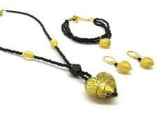 Murano glass jewels off! We sell online more than 700 made in Italy items ready on stock, for wholesalers and retailers! Bronze, Glass Earrings, Seed Beads, Beaded Bracelets, Ebay, Jewels, Silver, Gold, Home Fashion