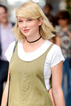 Taylor Swift out and about in Tribeca in our Pave Moon Talisman Choker! <3