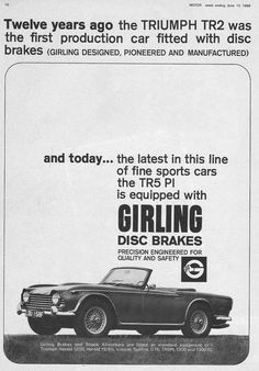 Triumph TR5 with Girling