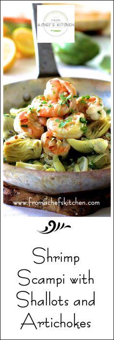 Shrimp Scampi With Artichokes Recipe — Dishmaps