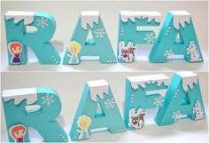 Resultado de imagen para letras decoradas frozen