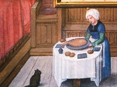 the cat and the cook | unknown source  Not sure when or where from. I just like the cat.