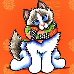 All Dolled Up in Citrus | Ragdoll by Off-Leash Art™