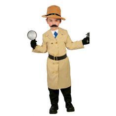Disfraz de Detective Infantil. Para niños con un sexto sentido, que les encanta ir resolviendo casos y haciendo preguntas al estilo Sherlock Holmes, Colombo...