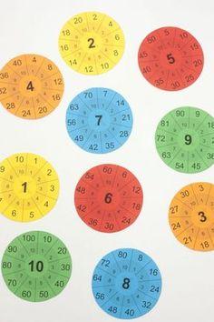 Imprimible / Las tablas de multiplicar en www.cosasmolonas.com Math Class, Kindergarten Math, Teaching Math, Math Worksheets, Math Resources, Math Games, Preschool Activities, Montessori Math, Math Multiplication