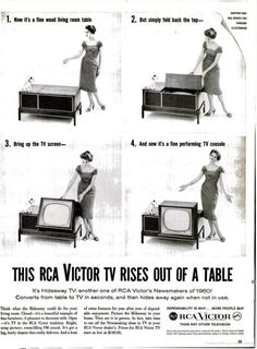 TV from an end table.1959