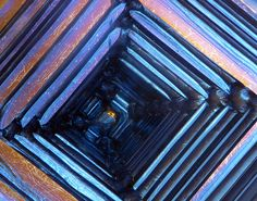 The Crystal Castle Gems And Minerals, Crystals Minerals, Stones And Crystals, Patterns In Nature, Textures Patterns, Abstract Science, Organic Structure, Metal Earth, Bismuth