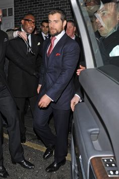 Henry leaving Pre-BAFTA party in London.