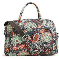 Vera Bradley Weekender Travel Bag in Nomadic Floral ($98) ❤ liked on Polyvore featuring bags, luggage and nomadic floral