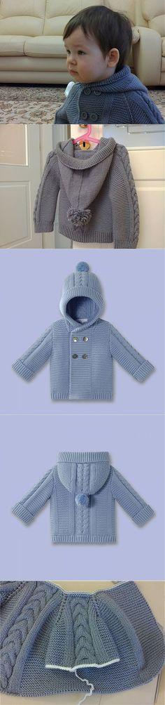 Knitting Baby Vest Pattern Red Hearts 67 Ideas For 2019 Baby Knitting Patterns, Knitting For Kids, Baby Patterns, Cardigan Bebe, Baby Cardigan, Crochet Jacket, Crochet Cardigan, Knit Dress, Cute Crochet