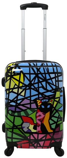 Funky Floral Burst 30 Quot Spinner Luggage Made From Hardside