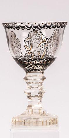 Pokal mit Putten Fachschule Haida (Entwurf), Joh. Oertel & Co., Haida, um 1915