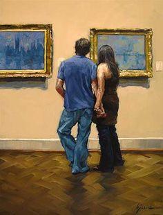 "Karin Jurick  ""For the Love of Monet""  Media: oil on masonite  Size: 9x12 in"