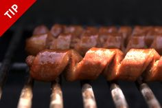 Why You Should Spiral-Cut Your Hot Dog for Grilling by chow.com#Hot_Dog #Spiral_Cut #chow_com