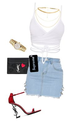 summer baby by keishajackson1431 on Polyvore featuring polyvore fashion style Yves Saint Laurent Gucci clothing