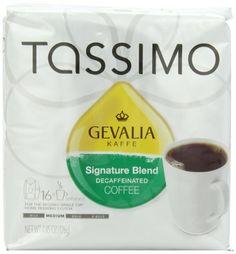Gevalia Signature Blend Decaffeinated Coffee (Mild), 16-Count T-Discs for Tassimo Coffeemakers (Pack of 2) - http://thecoffeepod.biz/gevalia-signature-blend-decaffeinated-coffee-mild-16-count-t-discs-for-tassimo-coffeemakers-pack-of-2/