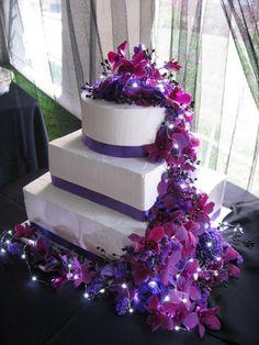 purple and blue wedding cakes | Purple Multi-shape Wedding Cakes Photos & Pictures - WeddingWire.com