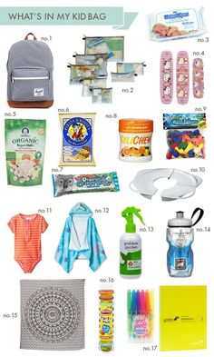What's in my diaper bag for my 2 potty trained kids
