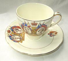 Vintage 1937 King Goerge VI Coronation Tea Cup & Saucer