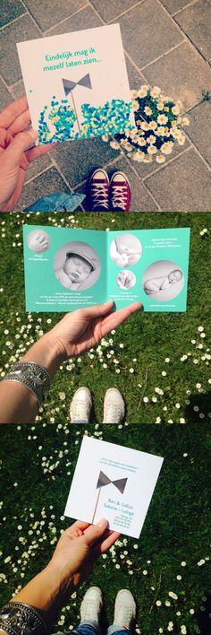 Designed by LEV - Linda de Vries. www.levties.nl | www.instagram.com/levties. Geboortekaart ontwerp voor een jongen door www.levties.nl #geboortekaart #ontwerp #jongen #meisje #confetti #photo #fotografie #graphicdesign #grafischevormgeving #strik #groen #newborn #baby #foto