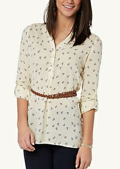 Lace Tie Back Babydoll Top | Shirts & Blouses | rue21