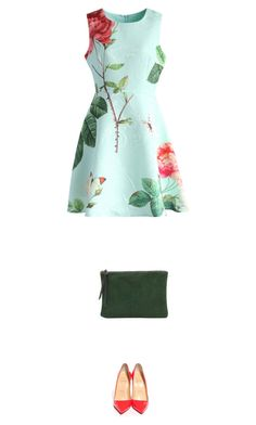 """""""rose"""" by ecem1 ❤ liked on Polyvore featuring Chicwish, Christian Louboutin and Oliveve"""