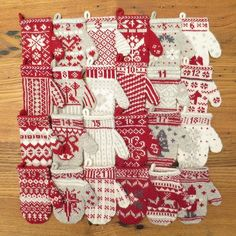 Free knitting pattern: Mitten Garland Advent Calendar - Mitten 24 -