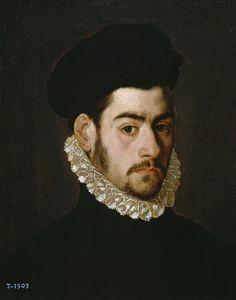 Autorretrato (?), Alonso Sánchez Coello. Óleo sobre tabla, 41 x 32,5 cm, H. 1570.