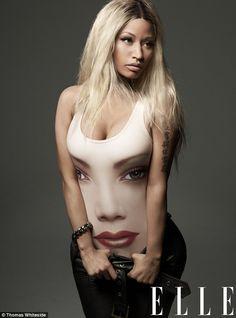 Nicki Minaj en couverture de Elle. La photo dont tout le monde parle: Le 18 mars sortira le nouveau Elle mag avec Nicki Minaj en couverture. Une femme avec un peu moins d'artifices qui y dévoilera sa personnalité ainsi que les moments difficiles parcouru.