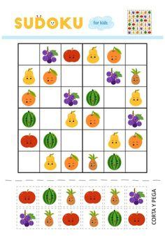motricidad y atención SUDOKUS 6X6 recorta y pega -Orientacion Andujar Worksheets For Kids, Math Worksheets, Preschool Math, Kindergarten, Diy Home Crafts, Funny Games, Riddles, Homeschool, Projects To Try