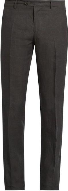 Etro Straight-leg linen trousers