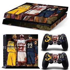 MATTAY Basketball Legend Stars Whole Body Vinyl Skin Sticker Decal Cover for PS4 Playstation 4 System Console and Controllers >>> Be sure to check out this awesome product.Note:It is affiliate link to Amazon.