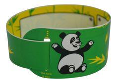 green kids id bracelet panda