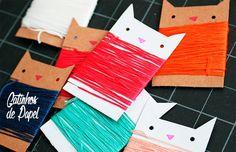 """""""FAÇA-Você-MESMA '4 ideias parágrafo organizar uma Linha de Meada: gatinhos de papel"""