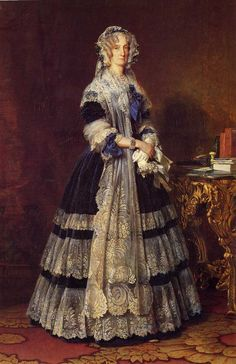Portrait of the Queen Marie Amelie of Bourbon-Two Sicilies, Queen of the French Franz Xaver Winterhalter American Oil Painting in NY, USA. Franz Xaver Winterhalter, Amelie, Bourbon, Two Sicilies, French Royalty, English Royalty, Queen Photos, French History, A4 Poster