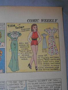 Tillie the Toiler 4-24-38 from Ebay