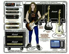 Stage set up of Iron Maiden's Dave Murray.