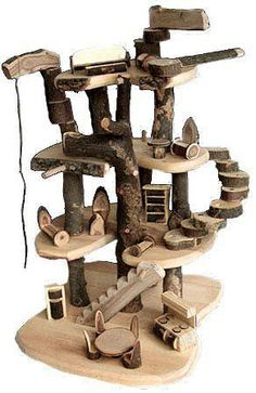 cat furniture made of branches | Made of cherry branches and branch blocks to assemble in endless ways ...