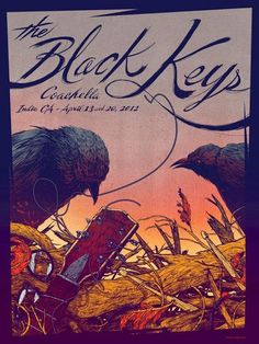 The Black Keys concert poster.