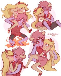 Im for starco , but tomstar is so cuuutteeee Starco, Cartoon Art, Cartoon Characters, Tom Star, Art Sonic, Star Y Marco, Star Force, Shared Folder, Star Butterfly