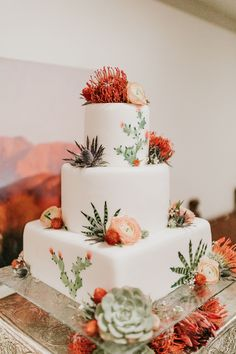 wedding cakes winter Real Weddings - Southwestern Inspired Wedding Traditions Alicia Lucia Photography: Albuquerque and Santa Fe New Mexico Wedding and Portrait Photographer Succulent Wedding Cakes, Southwestern Wedding, Cactus Cake, Traditional Wedding Cake, Spanish Wedding, Space Wedding, Wedding Reception, Santa Fe, Real Weddings