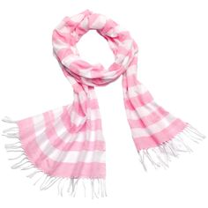 Pink and White Stripe Scarf by Connected in Hope Foundation. Hand-loomed in Ethiopia. 100% of profits are re-invested in programs to support the weavers and their families.